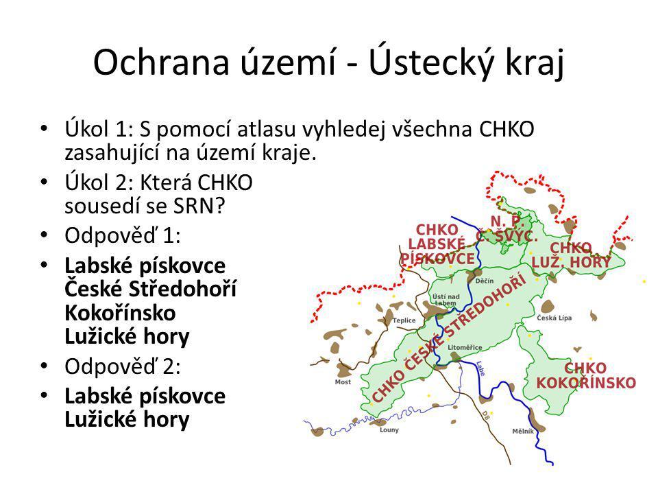 Ochrana území - Ústecký kraj