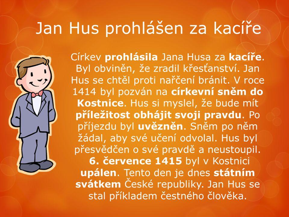 Jan Hus prohlášen za kacíře