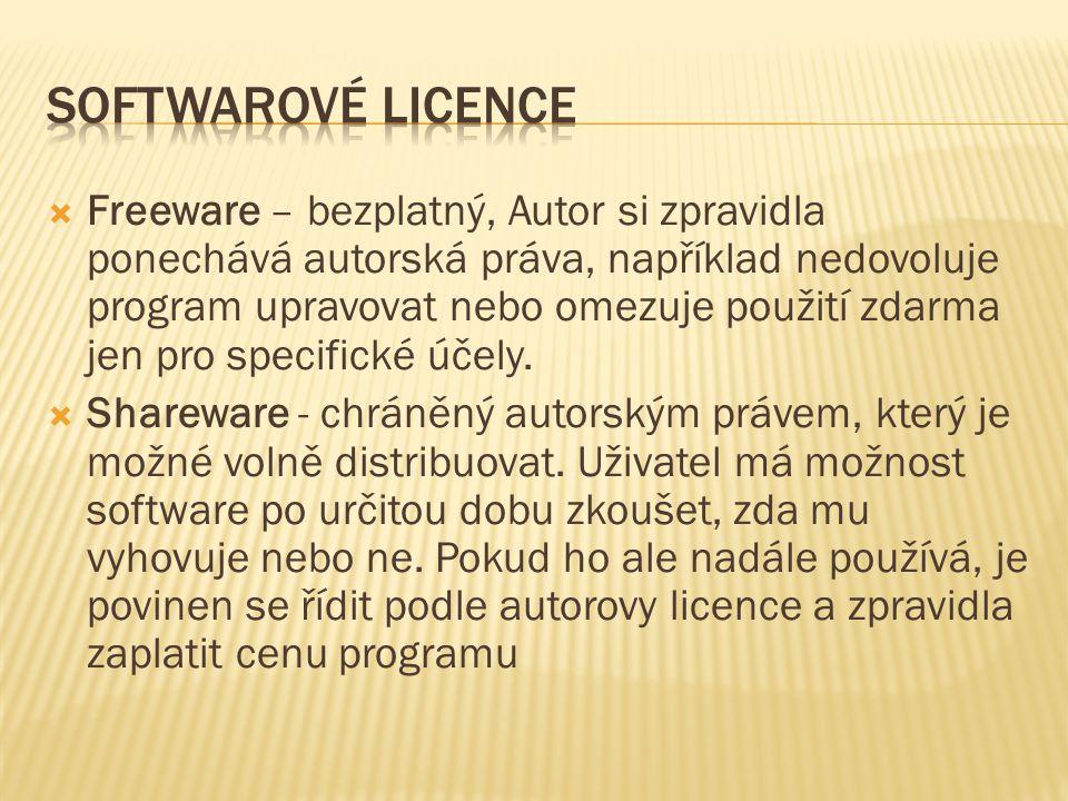 Softwarové licence