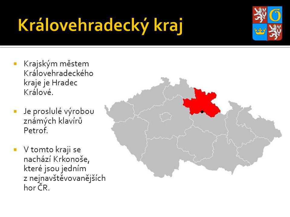 Královehradecký kraj Krajským městem Královehradeckého kraje je Hradec Králové. Je proslulé výrobou známých klavírů Petrof.