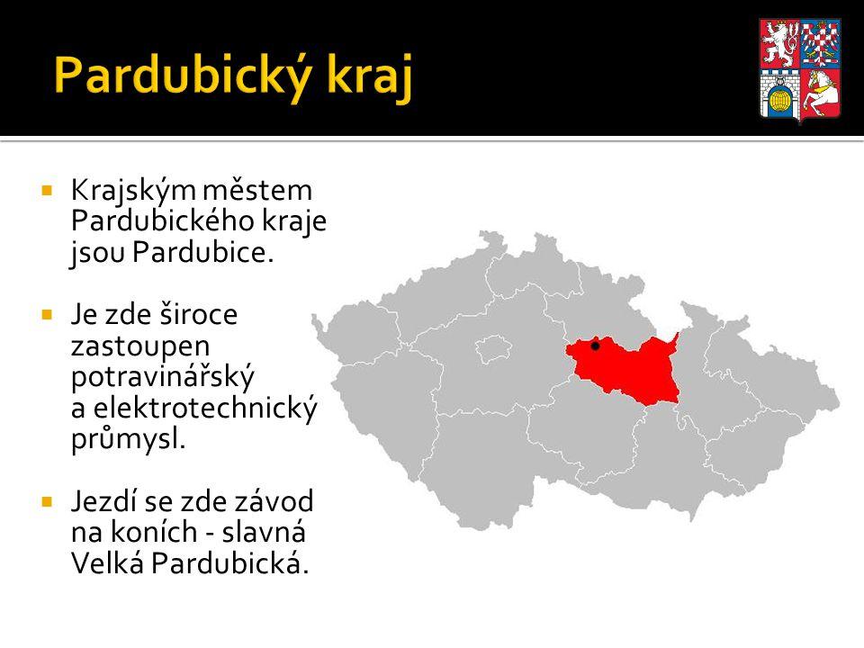 Pardubický kraj Krajským městem Pardubického kraje jsou Pardubice.
