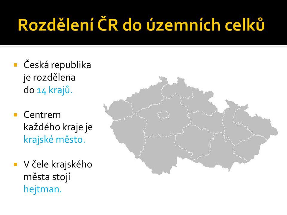 Rozdělení ČR do územních celků