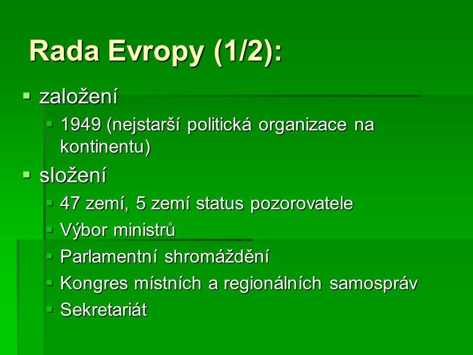 Rada Evropy (1/2): založení složení