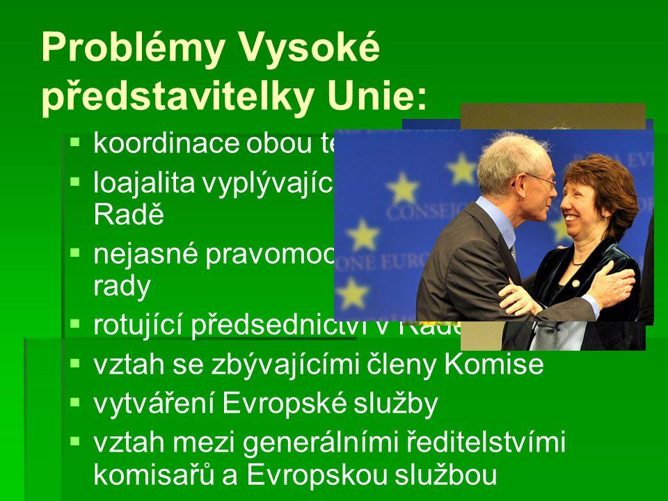 Problémy Vysoké představitelky Unie: