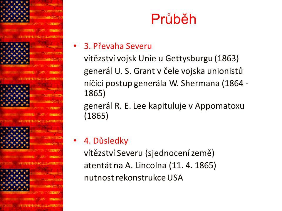 Průběh 3. Převaha Severu vítězství vojsk Unie u Gettysburgu (1863)