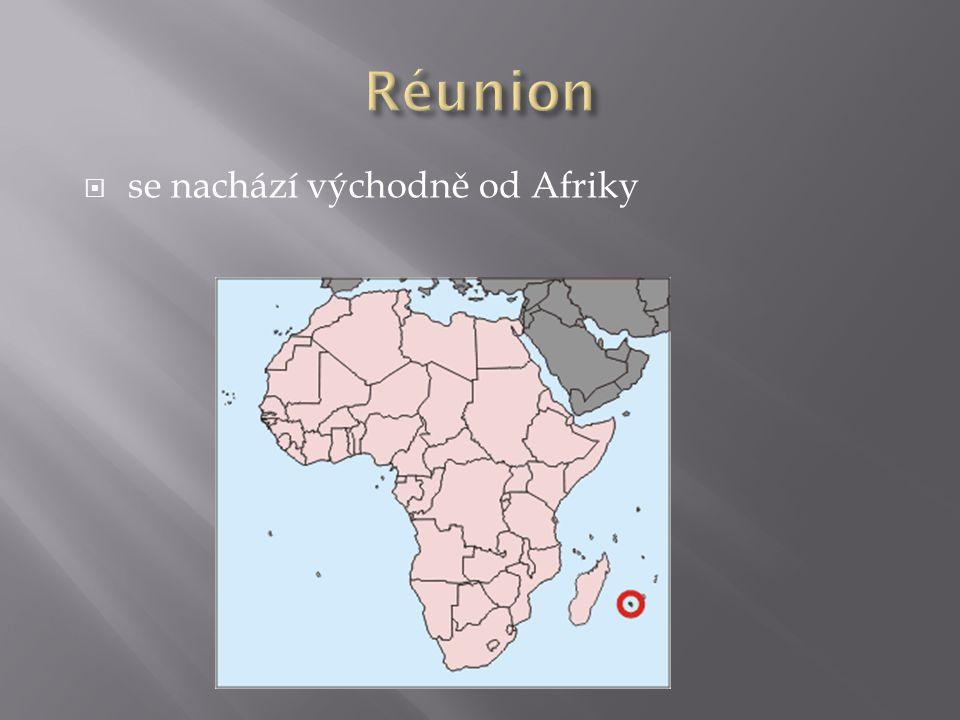 Réunion se nachází východně od Afriky