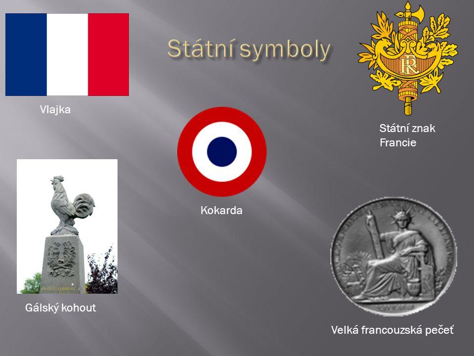 Státní symboly Vlajka Státní znak Francie Kokarda Gálský kohout