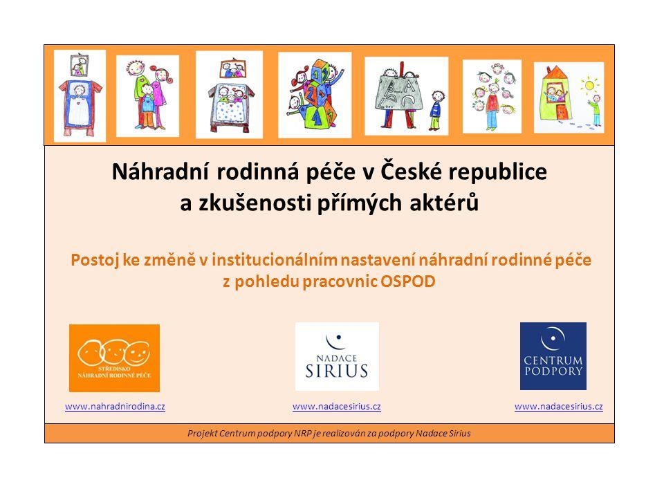 Projekt Centrum podpory NRP je realizován za podpory Nadace Sirius