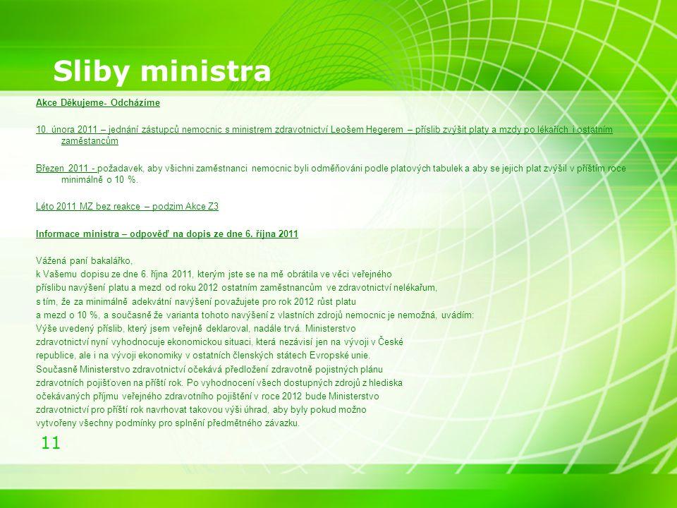 Sliby ministra