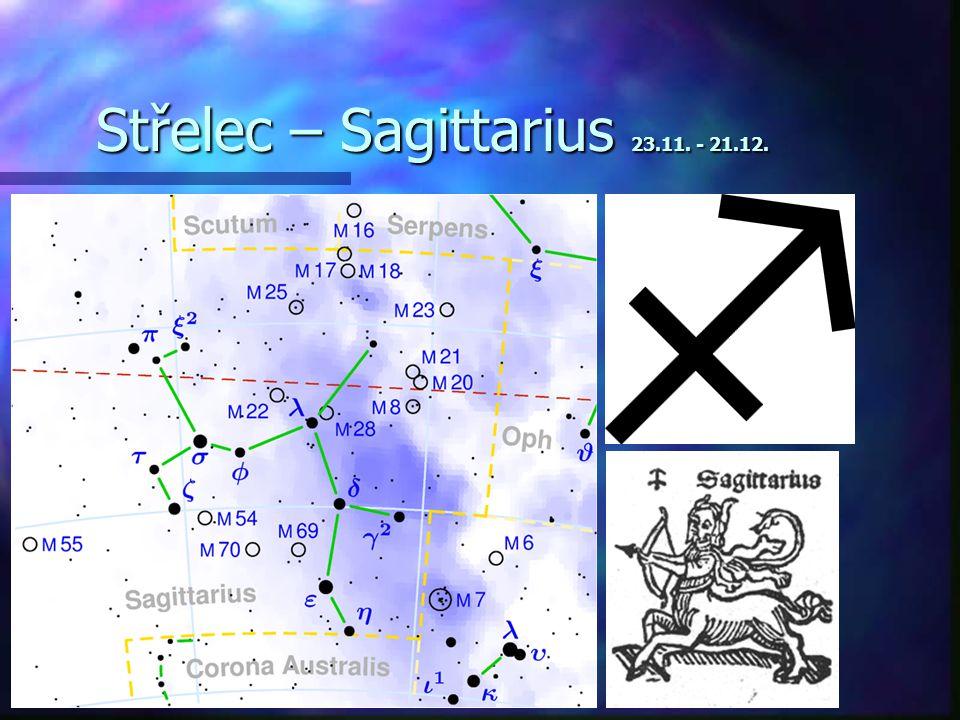 Střelec – Sagittarius 23.11. - 21.12.