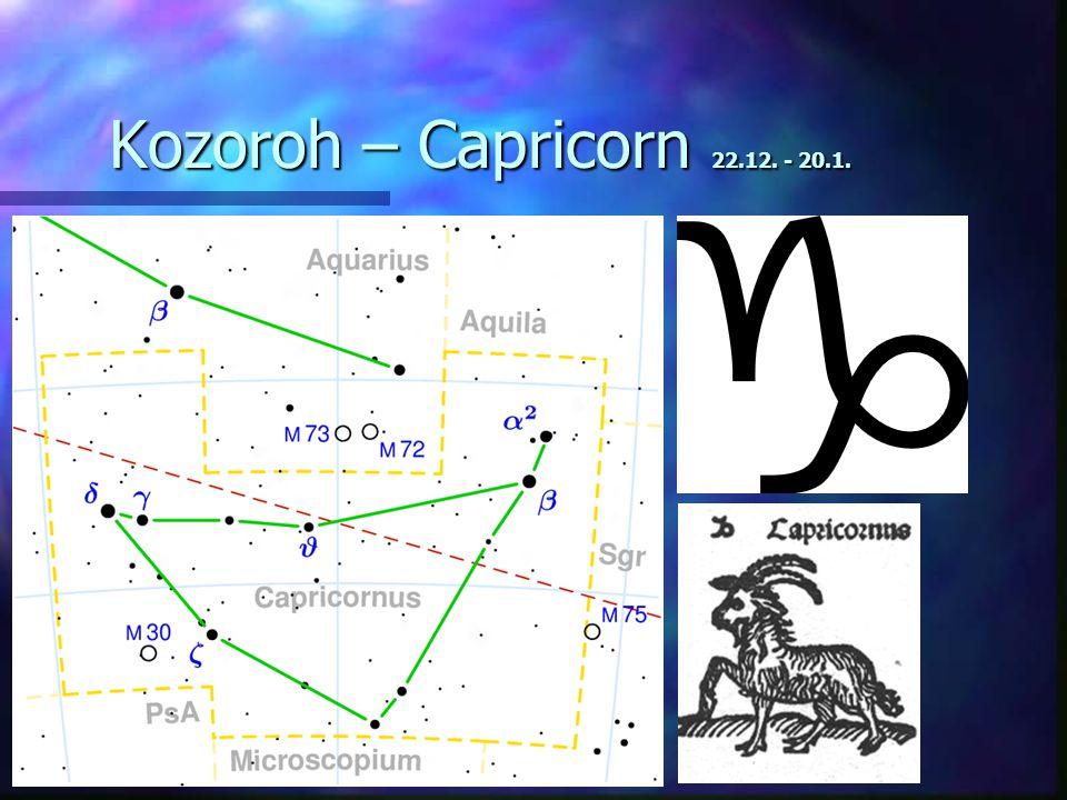 Kozoroh – Capricorn 22.12. - 20.1.