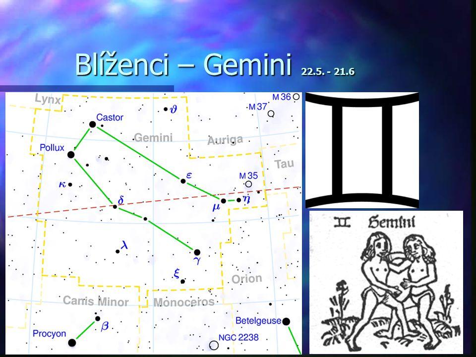 Blíženci – Gemini 22.5. - 21.6