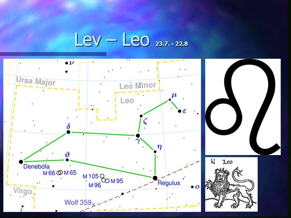 Lev – Leo 23.7. - 22.8
