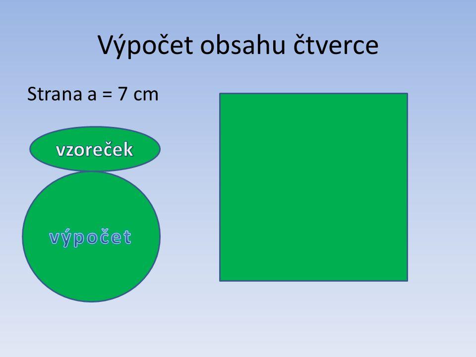 Výpočet obsahu čtverce