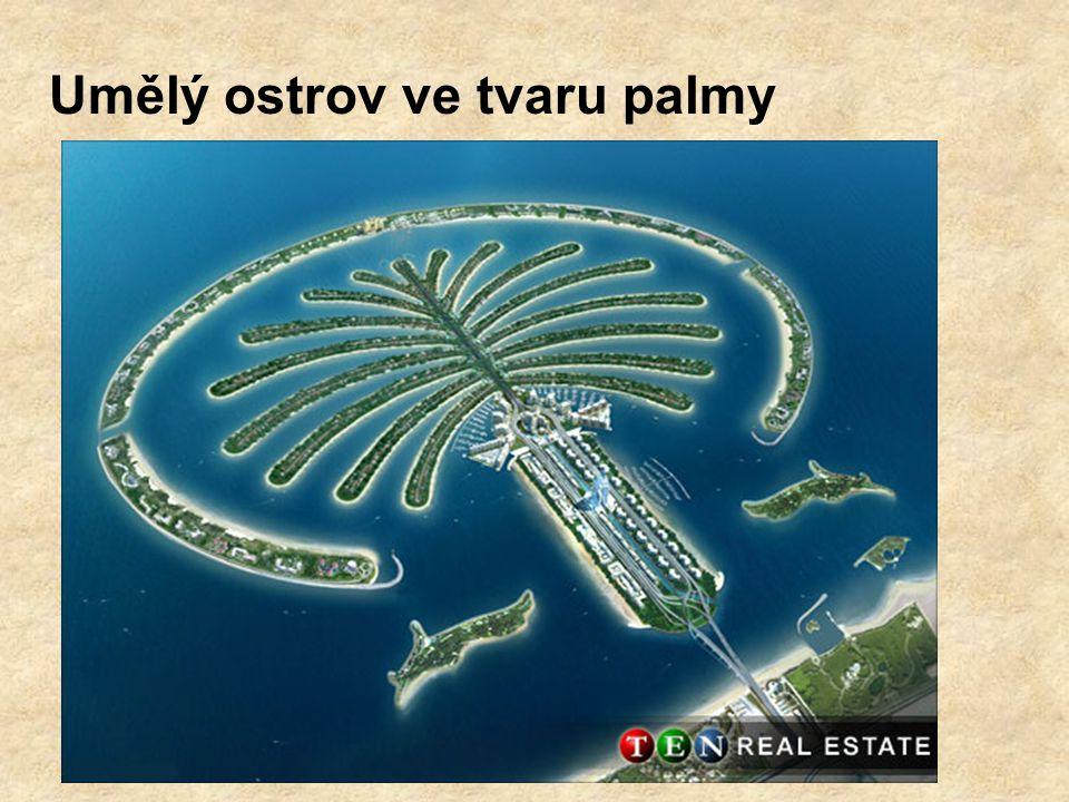 Umělý ostrov ve tvaru palmy