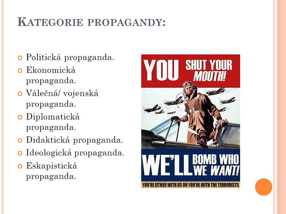 Kategorie propagandy: