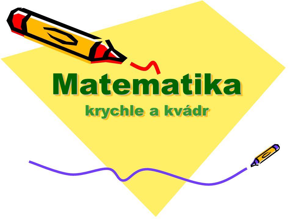 Matematika krychle a kvádr