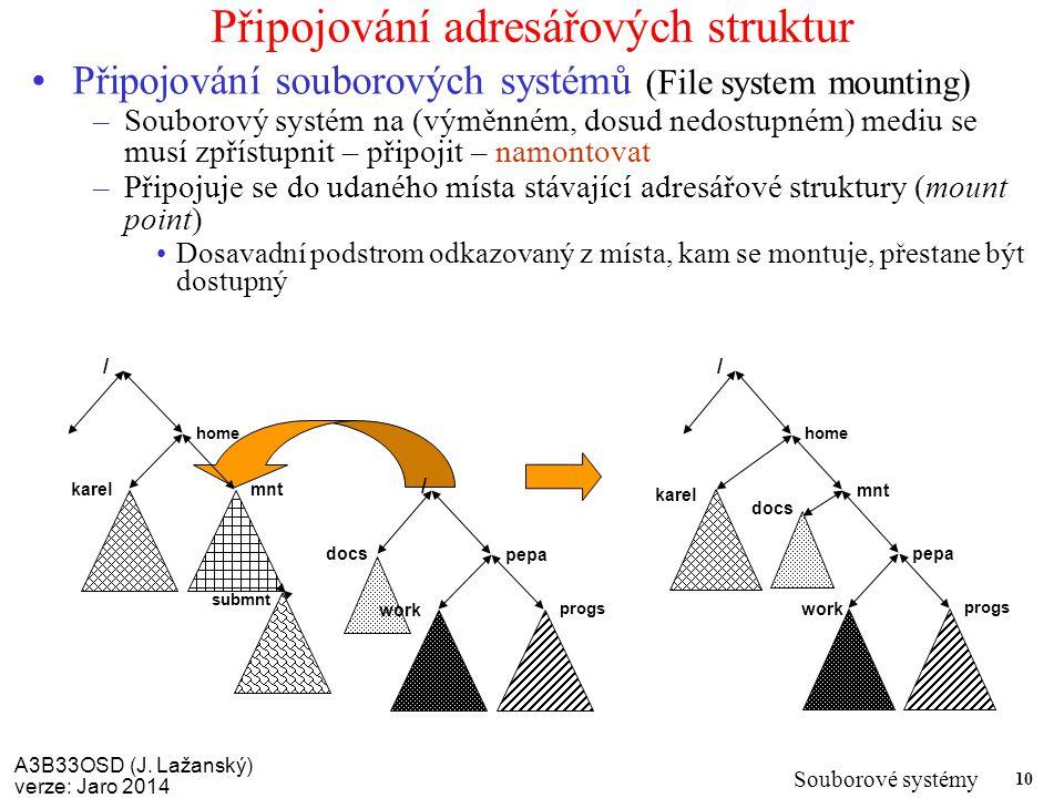 Připojování adresářových struktur