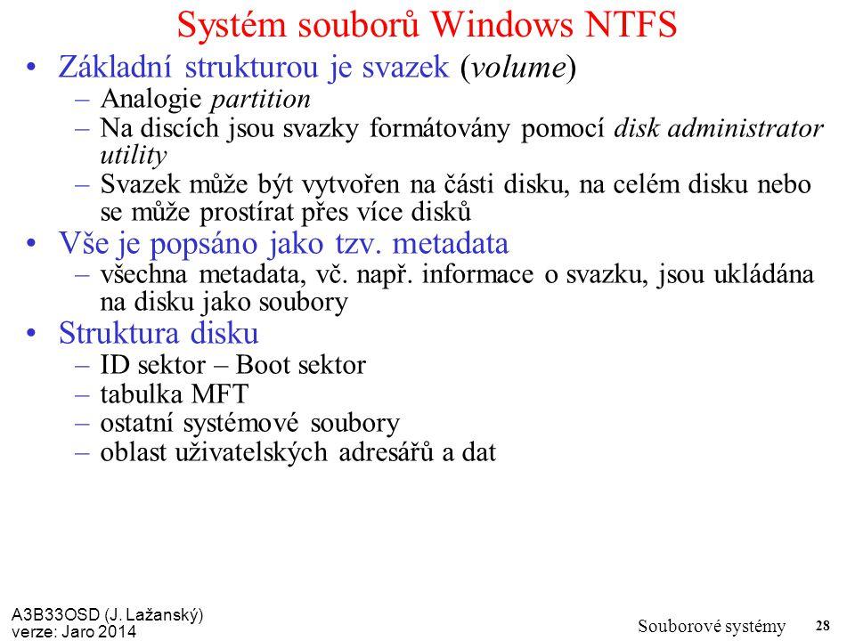 Systém souborů Windows NTFS