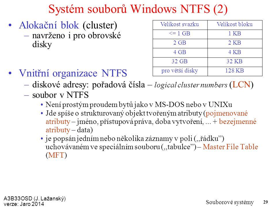 Systém souborů Windows NTFS (2)