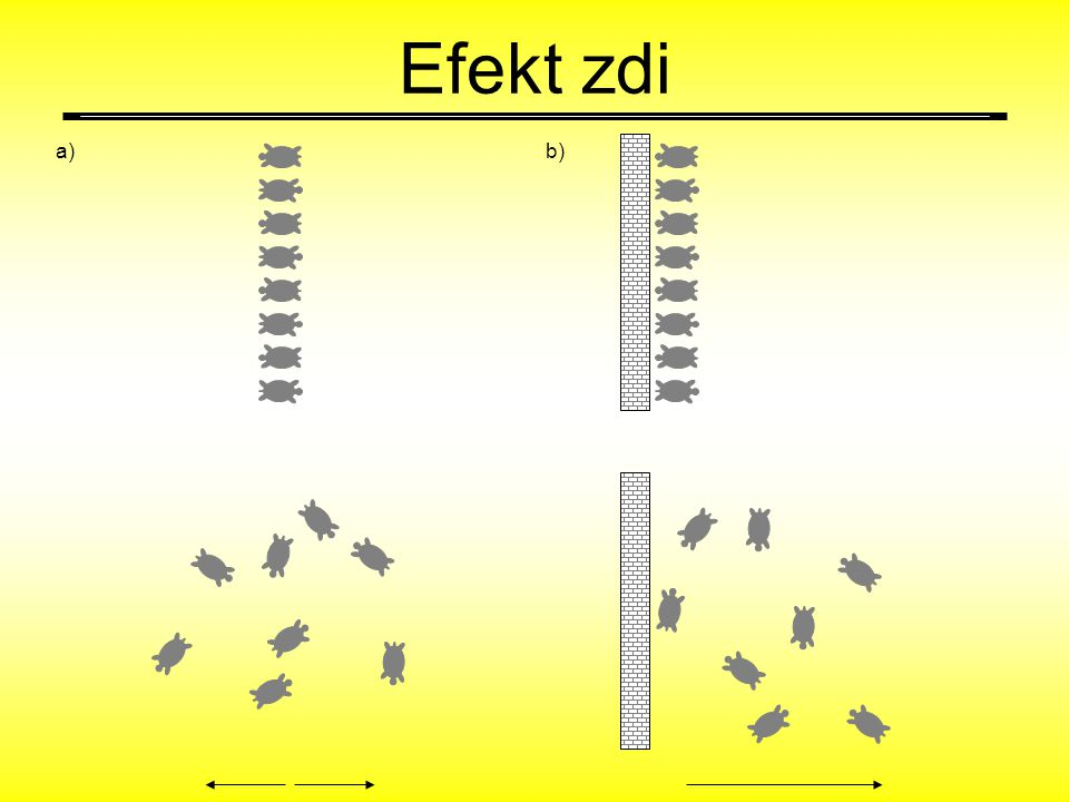 Efekt zdi a) b)