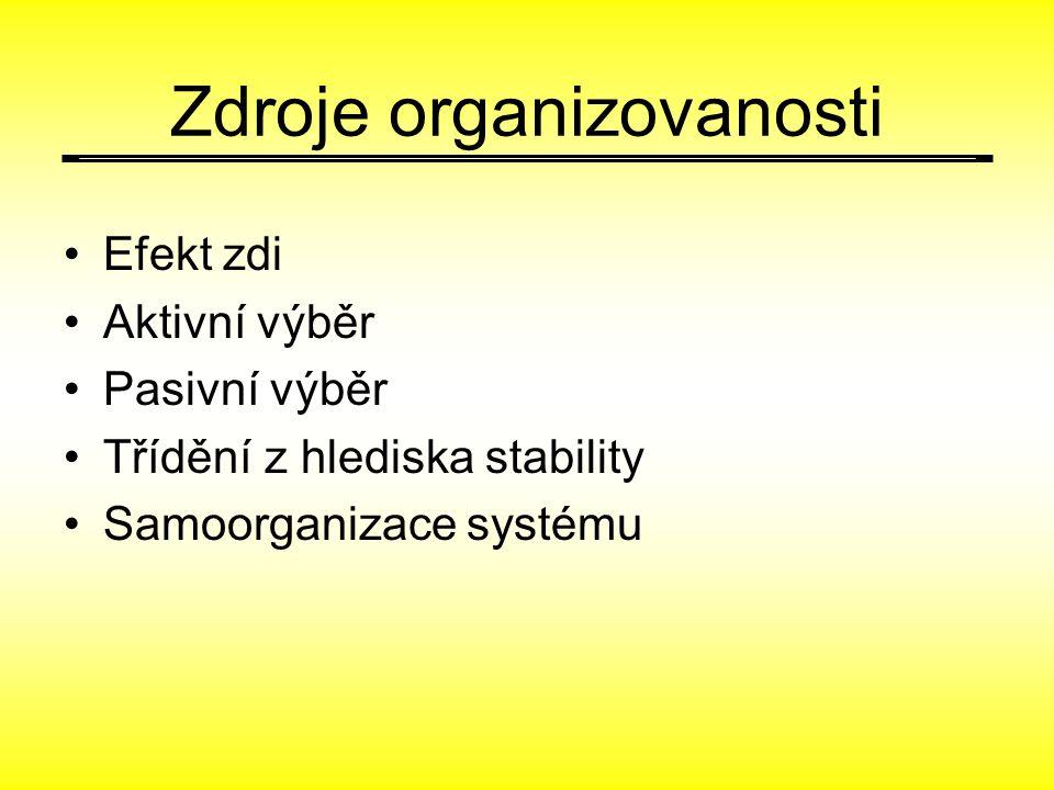 Zdroje organizovanosti