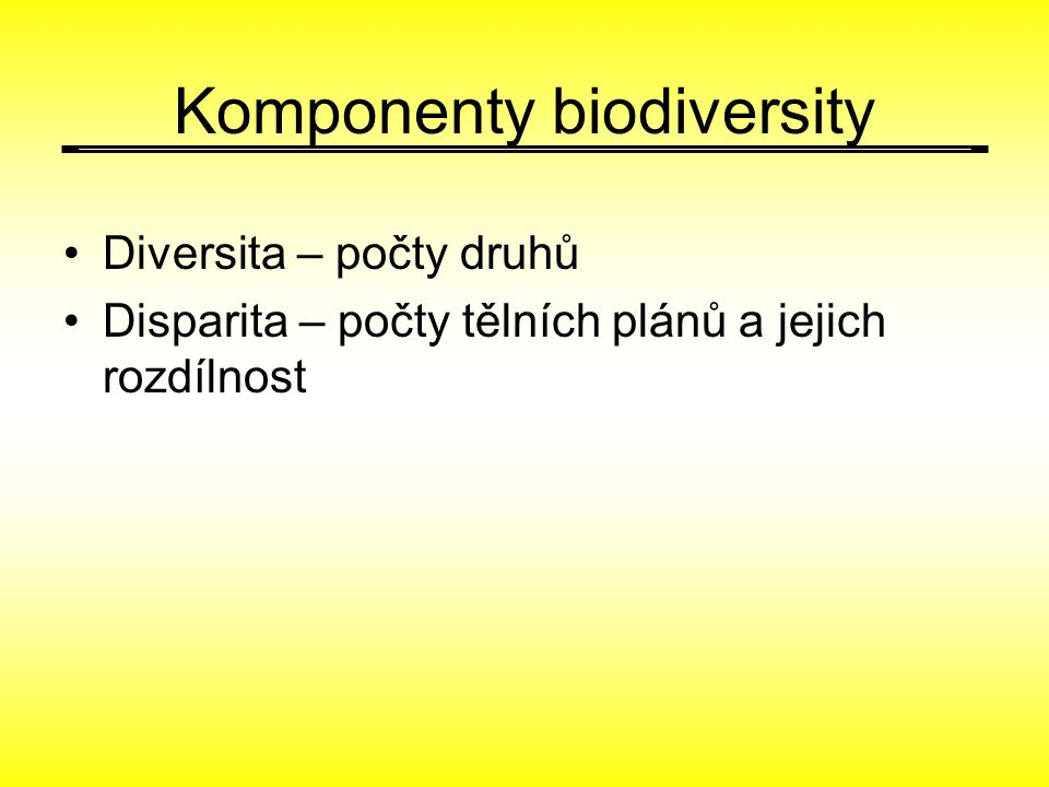 Komponenty biodiversity
