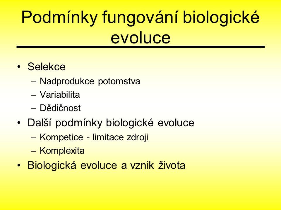 Podmínky fungování biologické evoluce