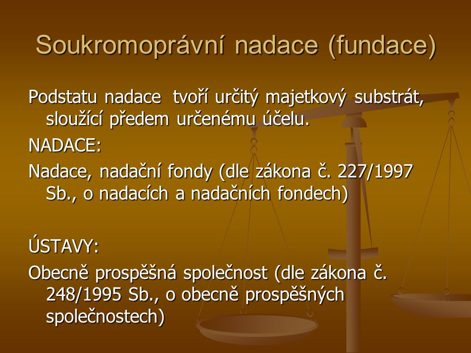Soukromoprávní nadace (fundace)