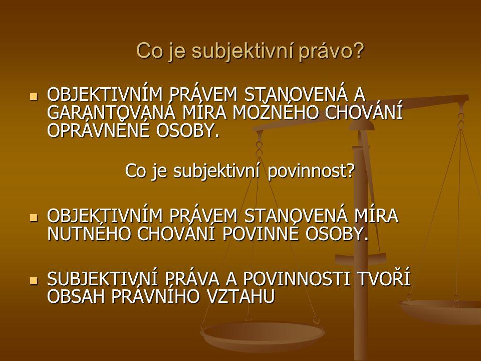 Co je subjektivní právo