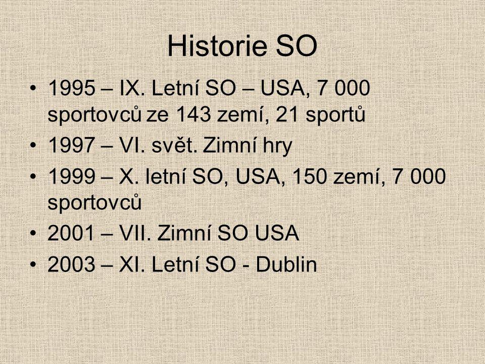 Historie SO 1995 – IX. Letní SO – USA, 7 000 sportovců ze 143 zemí, 21 sportů. 1997 – VI. svět. Zimní hry.