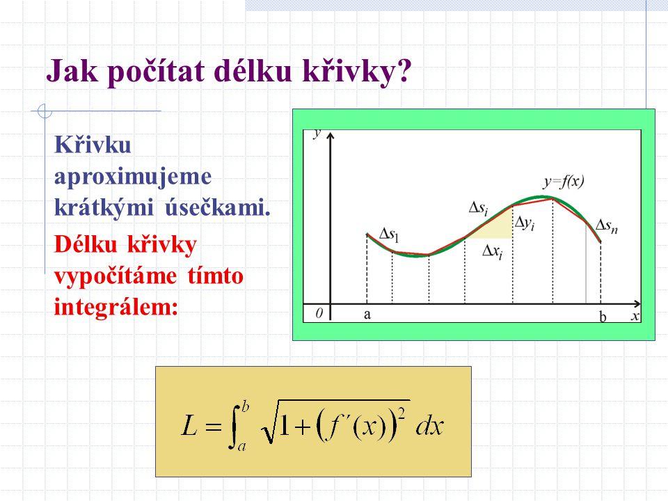 Jak počítat délku křivky