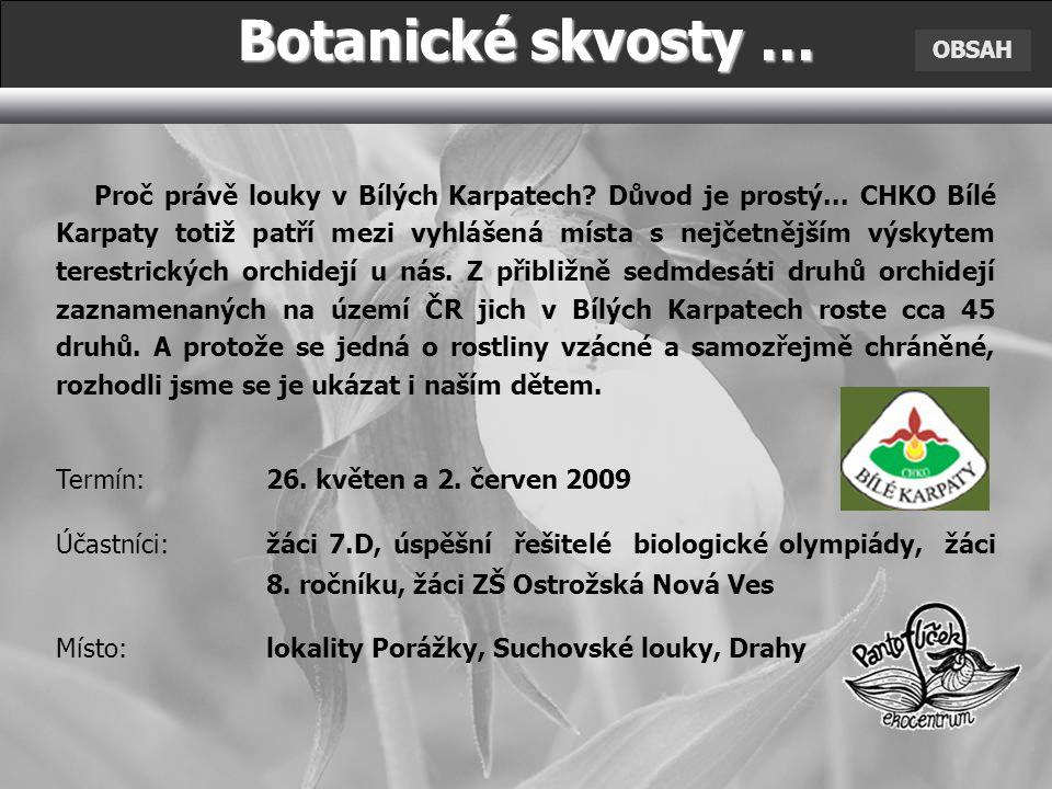 Botanické skvosty … OBSAH.