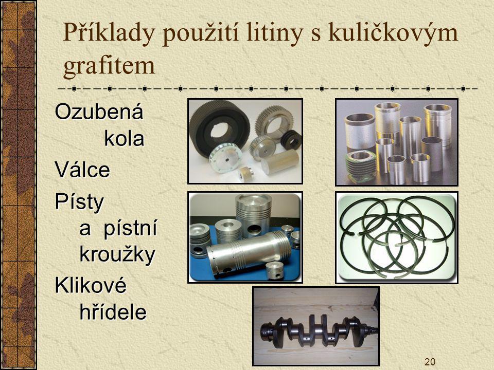 Příklady použití litiny s kuličkovým grafitem