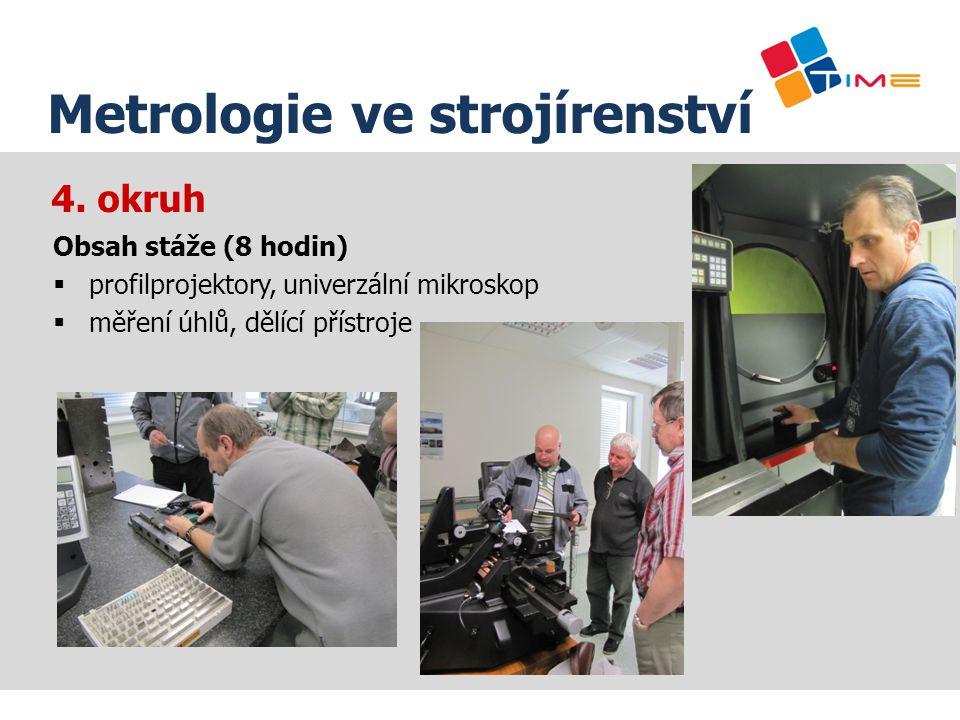 Název prezentace Metrologie ve strojírenství 4. okruh