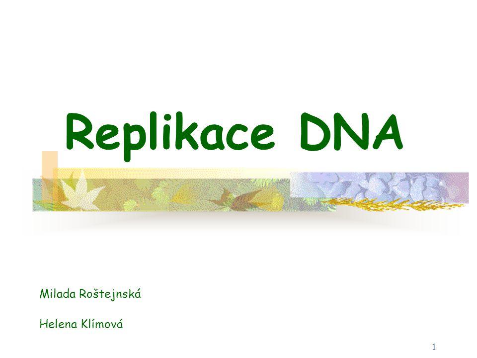 Replikace DNA Milada Roštejnská Helena Klímová