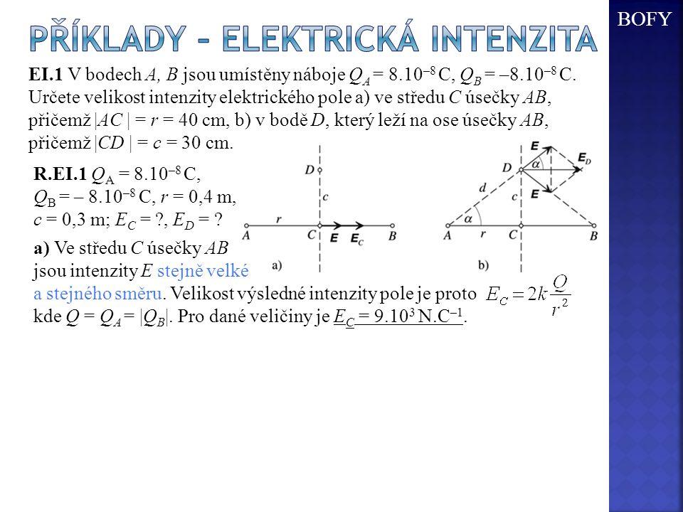Příklady – elektrická intenzita