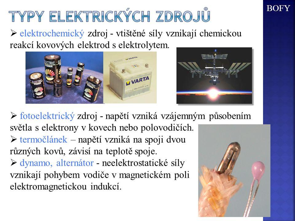 Typy Elektrických zdrojů