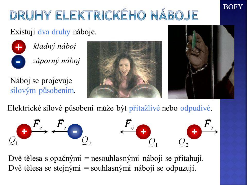 Druhy elektrického náboje