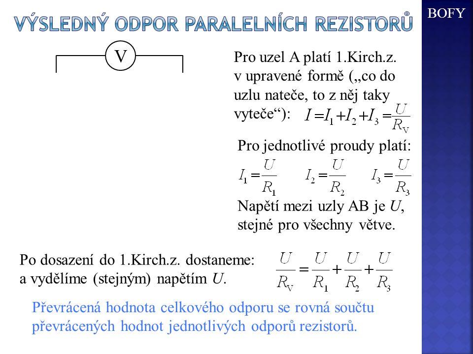 Výsledný odpor paralelních rezistorů
