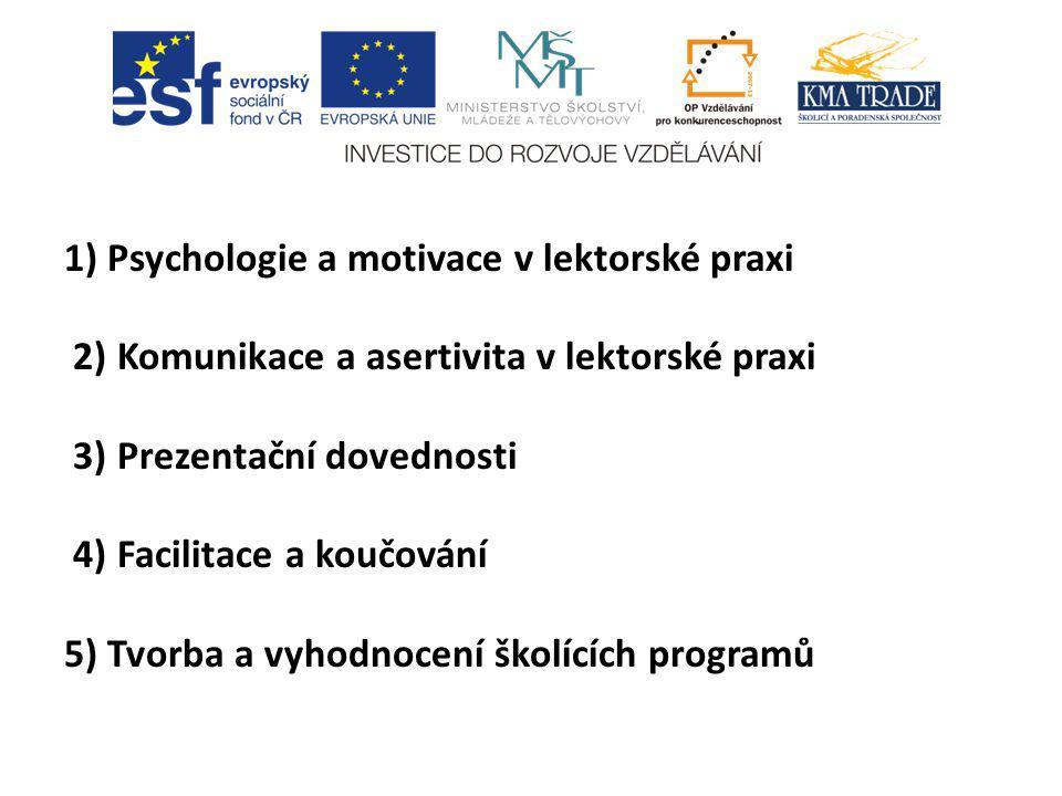1) Psychologie a motivace v lektorské praxi