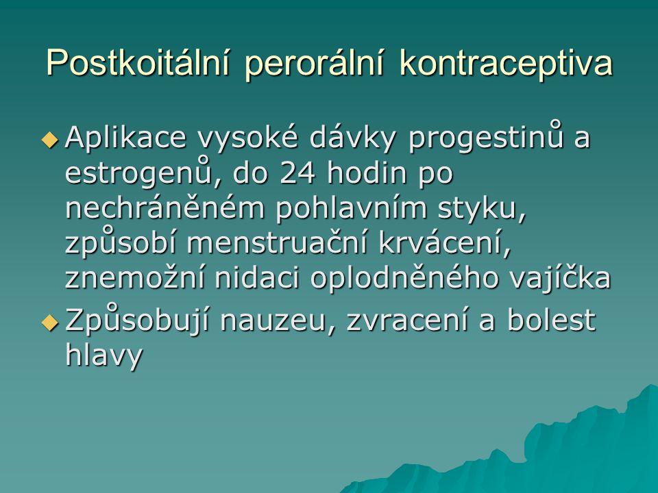 Postkoitální perorální kontraceptiva