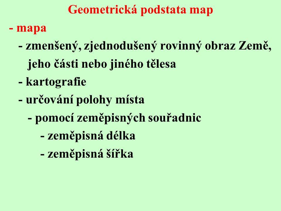 Geometrická podstata map