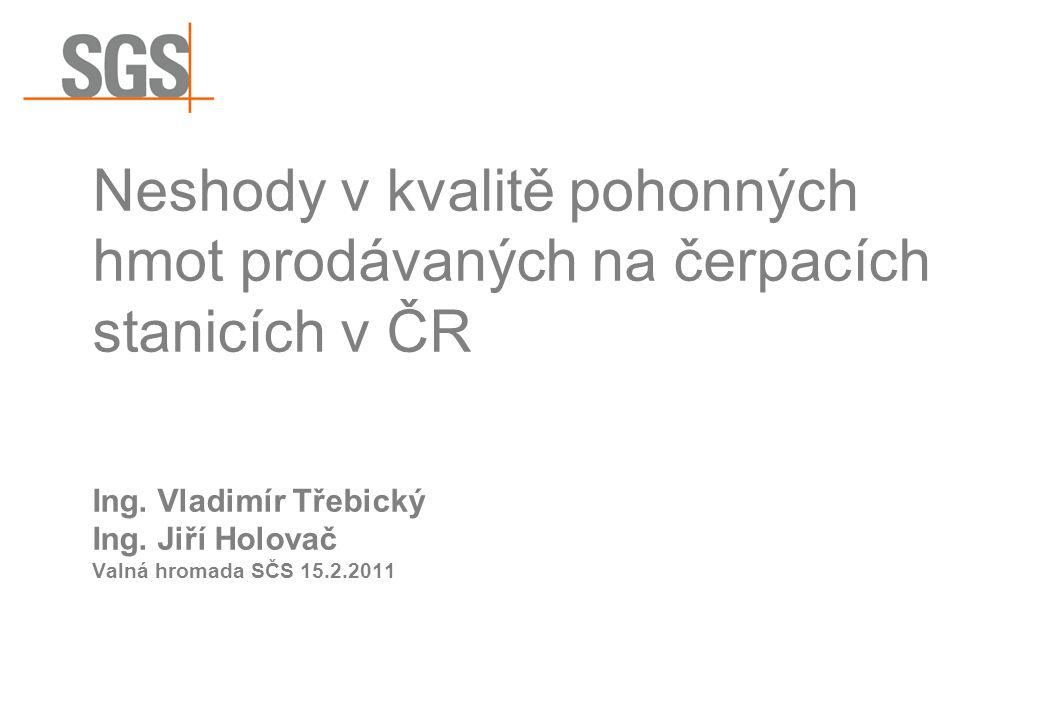 Neshody v kvalitě pohonných hmot prodávaných na čerpacích stanicích v ČR Ing.