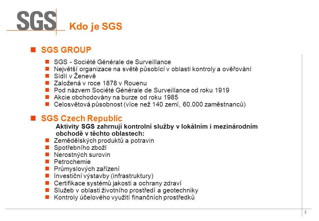 Kdo je SGS SGS GROUP SGS Czech Republic