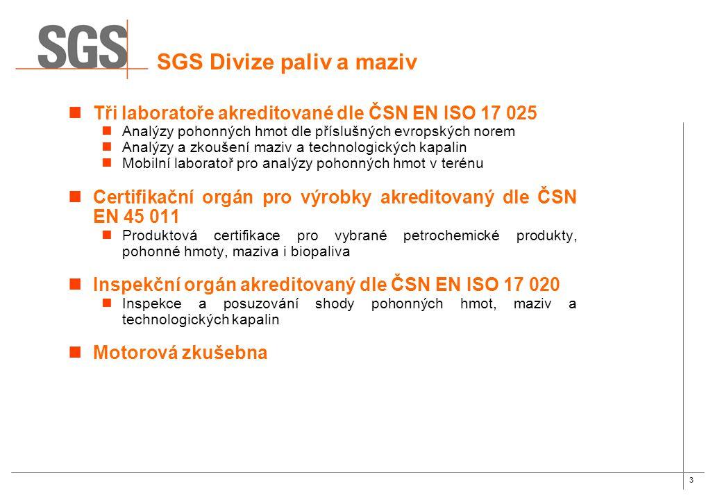 SGS Divize paliv a maziv