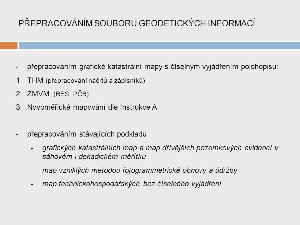 PŘEPRACOVÁNÍM SOUBORU GEODETICKÝCH INFORMACÍ