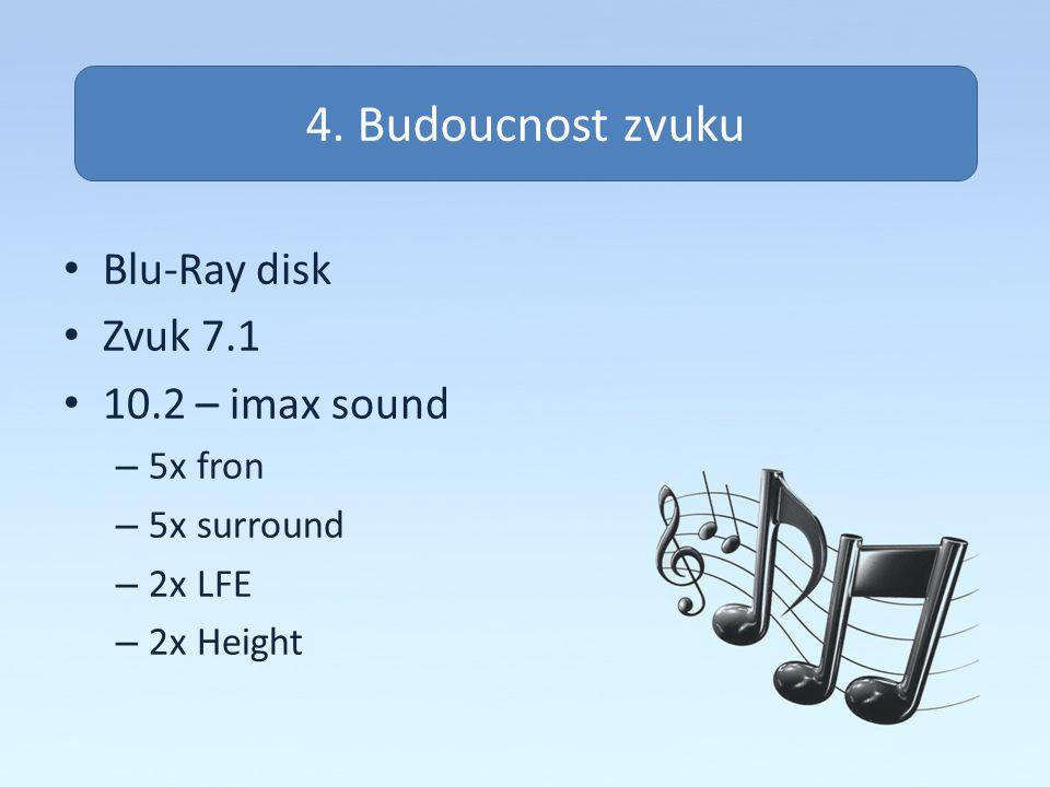Zvuk na pc 4. Budoucnost zvuku Blu-Ray disk Zvuk 7.1 10.2 – imax sound
