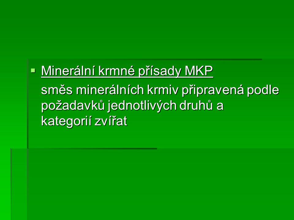 Minerální krmné přísady MKP