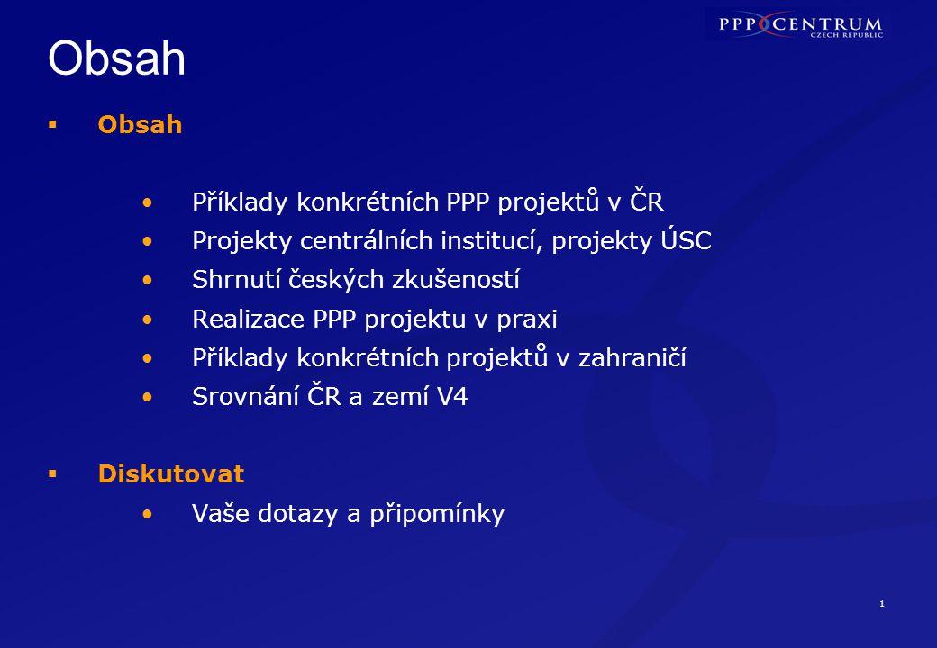 Významné PPP projekty v ČR